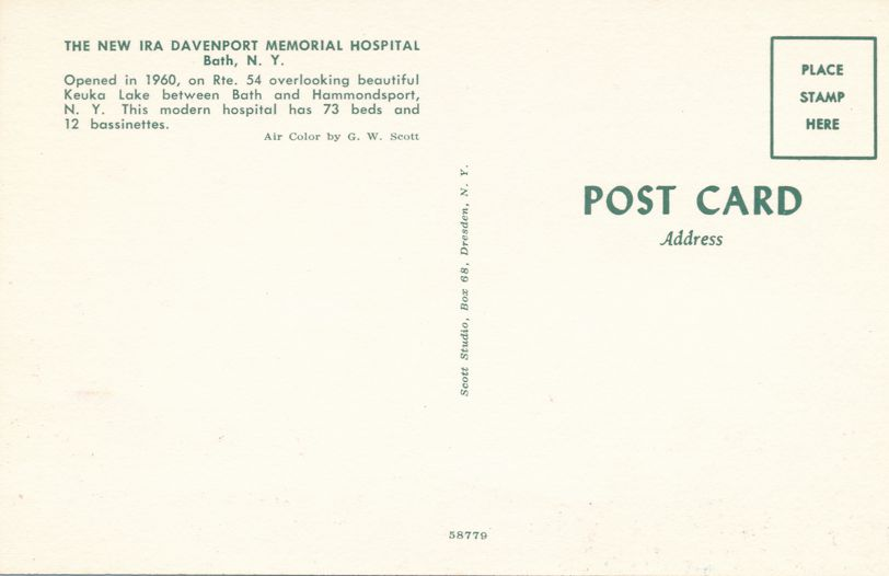 Bath, New York - Davenport Memorial Hospital