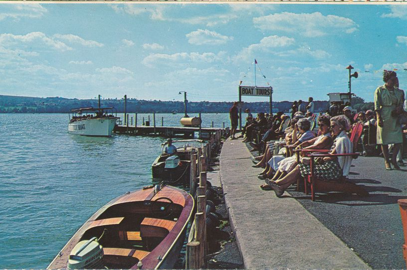 Canandaigua, New York - Waiting for Boat Tours at Roseland Amusement Park