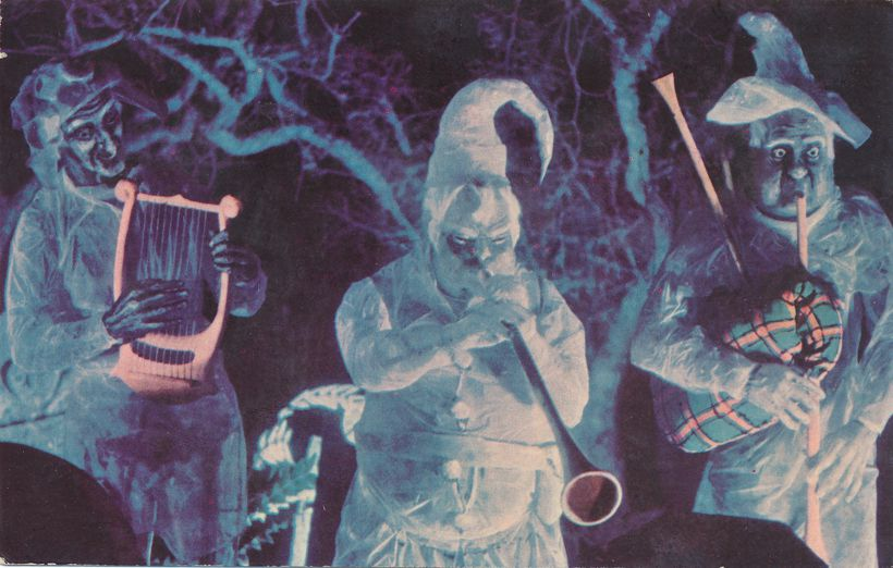 Ghostly Musicians at Haunted Castle - Walt Disney World, Florida - pm 1974
