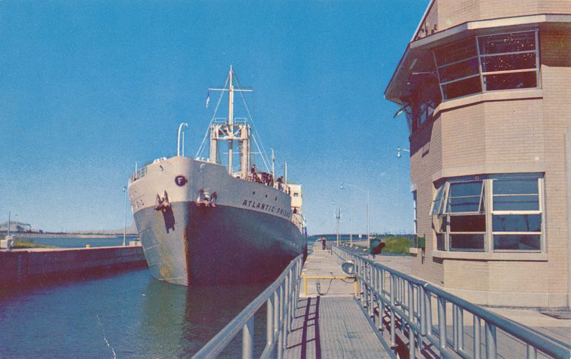 SS Atlantic Friendly in Eisenhower Lock - St Lawrence River, Massena, New York