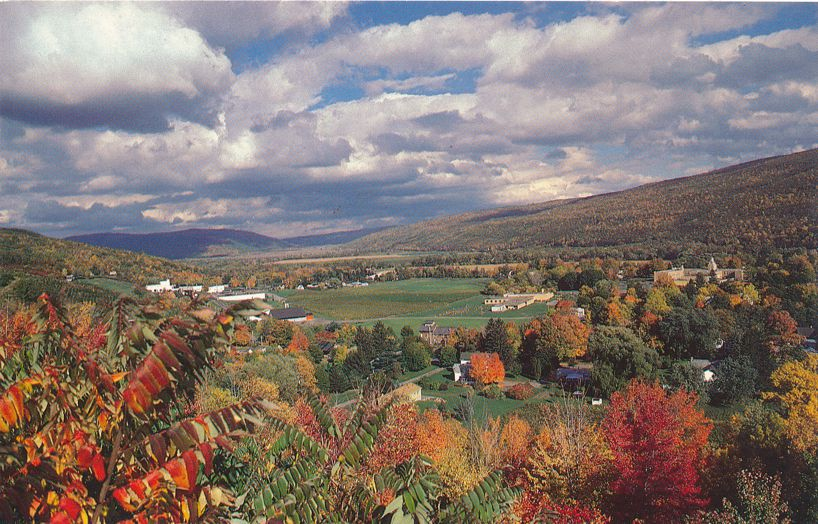 Naples, New York and Naples Valley - Beautiful Autumn View