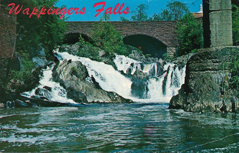 Waterfall at Wappingers Falls, Dutchess County, New York - pm 1989 at Poughkeepsie NY