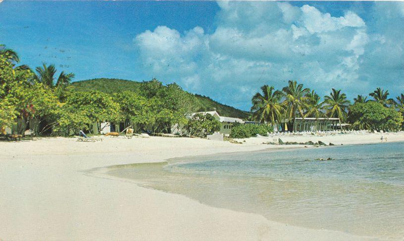 St Thomas, US Virgin Islands - Sandy Beach at Sapphire Bay Resort - pm 1976 at Kingshill VI