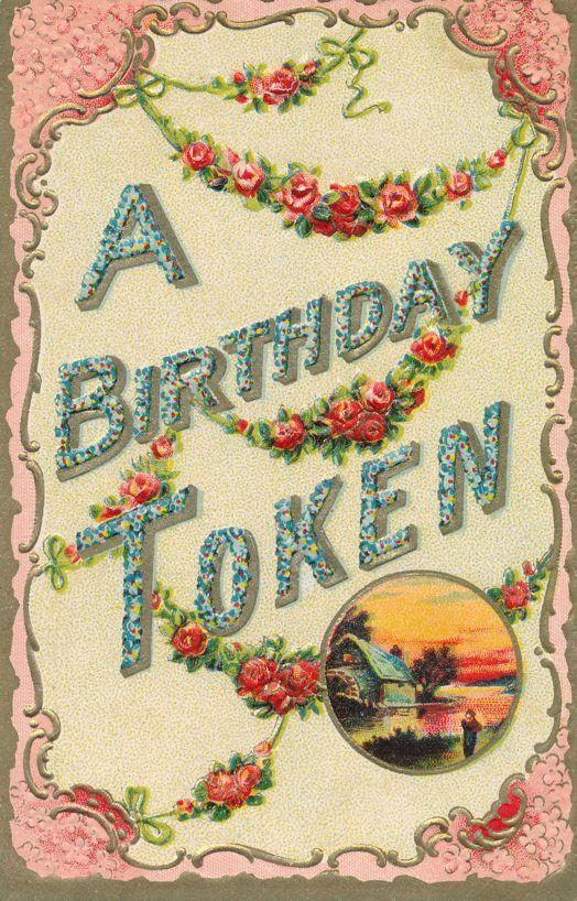 Birthday Greetings - A Beautiful Birthday Token - Divided Back