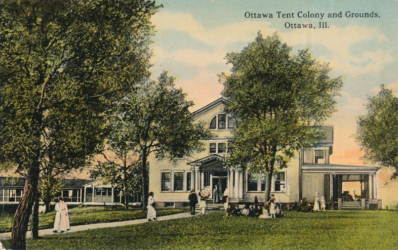 Ottawa, Illinois - Tent Colony and Grounds - Divided Back