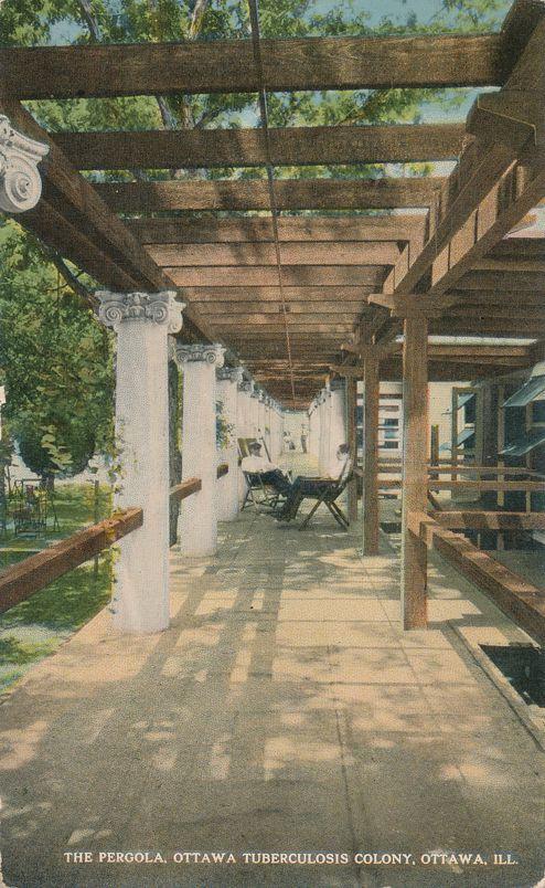 Ottawa, Illinois - Pergola at Tuberculosis Colony - Divided Back