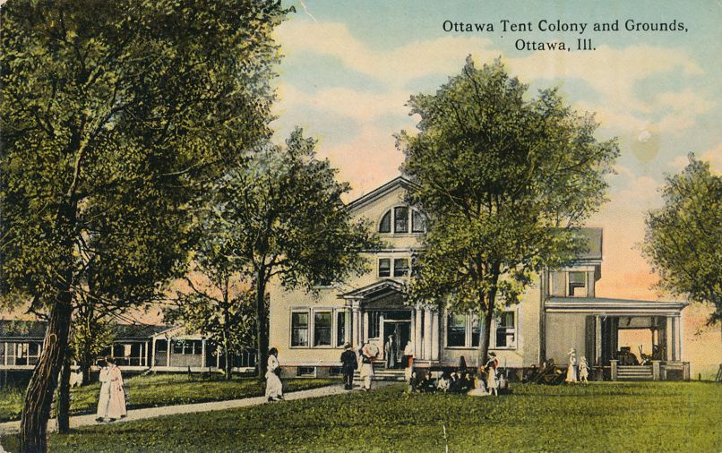 Ottawa, Illinois - Tuberculosis Tent Colony and Grounds - Divided Back