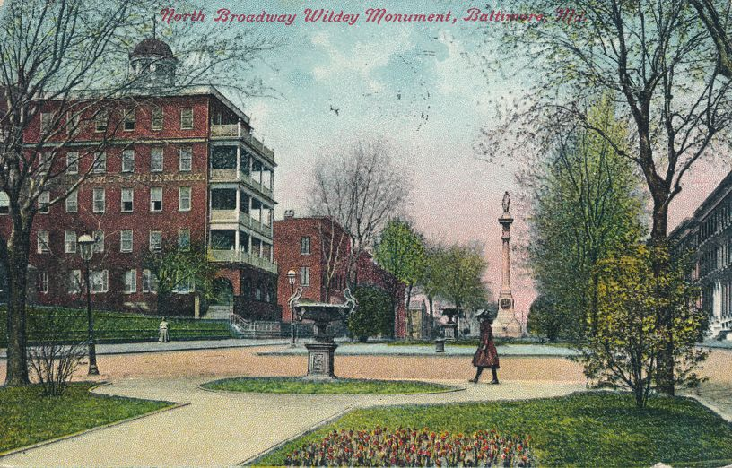 Baltimore, Maryland - Wildey Monument at North Broadway - pm 1912 - Divided Back