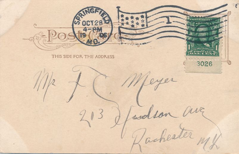 Springfield, Missouri - Lake Scene at Doling Park - pm 1906 - Undivided Back