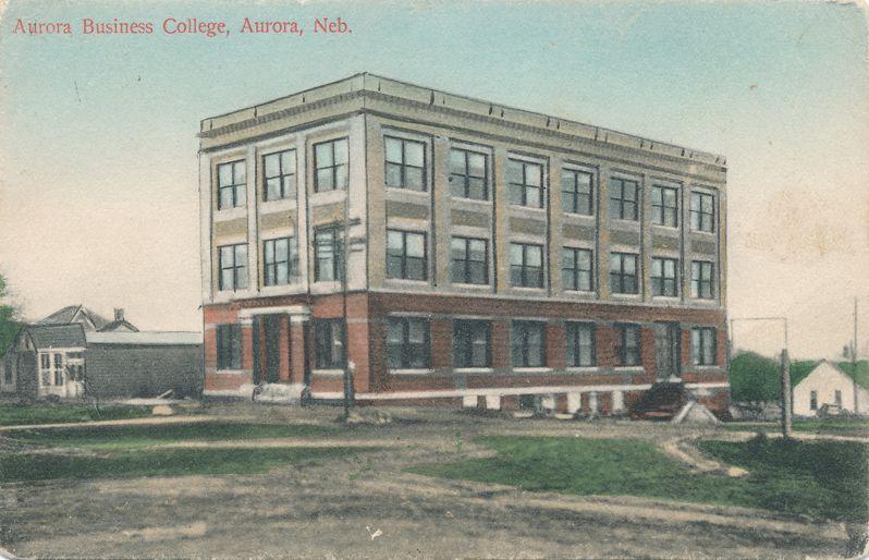 Aurora, Nebraska - Aurora Buisiness College - pm 1910 - Divided Back