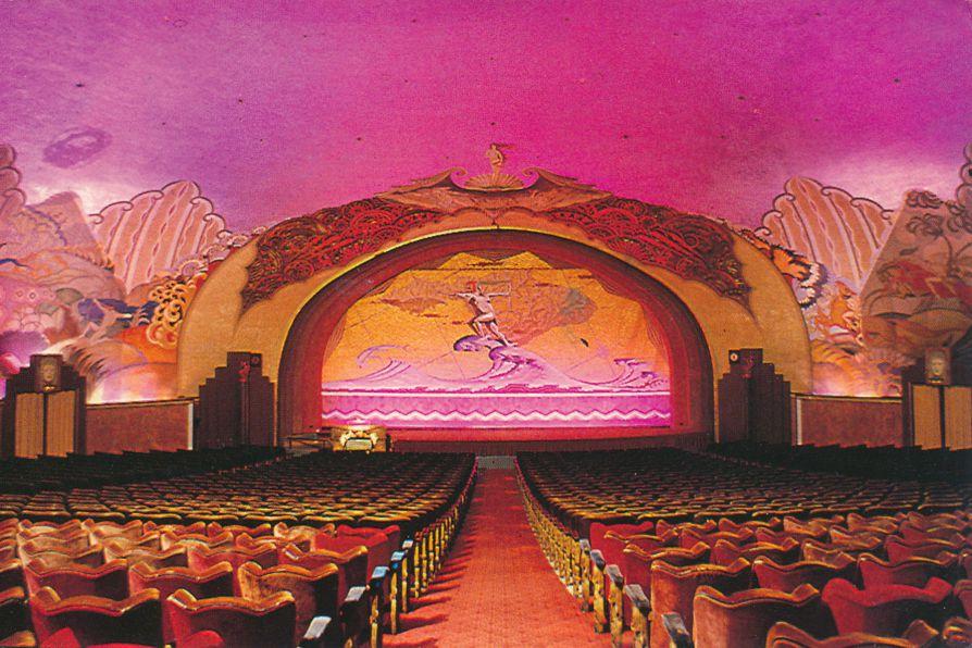 Catalina Island, California - Casino Theater Interior - pm 1988