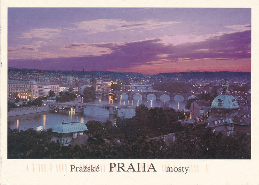 Evening Sky over Prague, Czech Republic - pm 2002 at Czech Repulbic