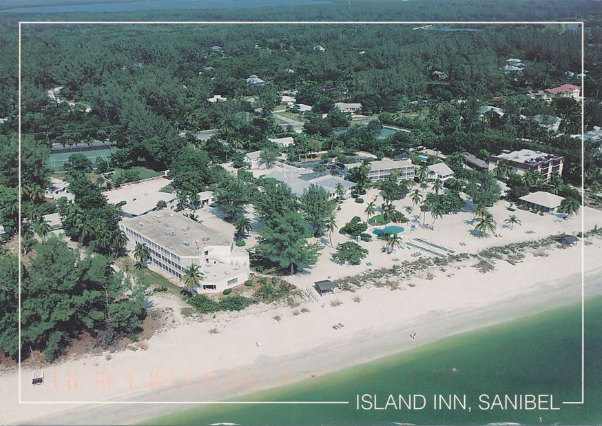 Sanibel, Florida - Island Inn from the Air - pm 2001 at Fort Myers FL