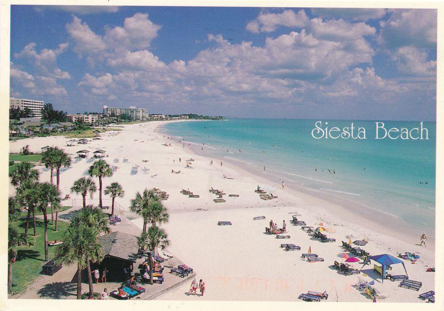 Siesta Key, Florida - Crescent Beach - World's Finest White Sand - pm 1998 at Manasota FL