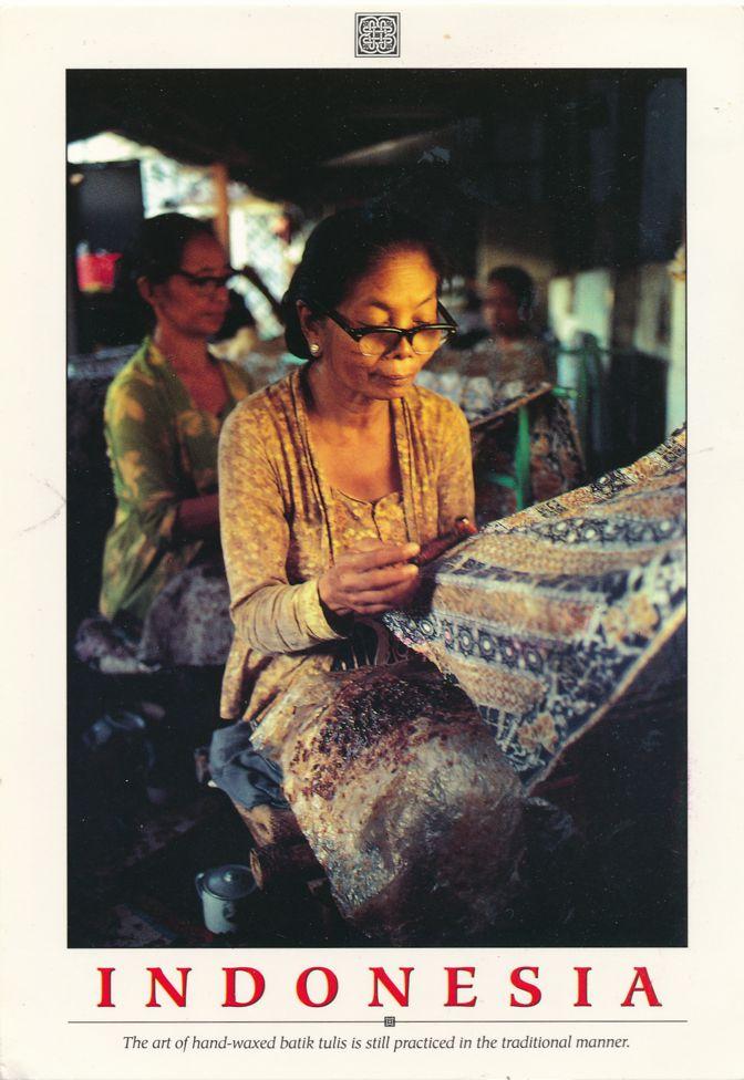 Indonesia - Art of Hand-waxed batik tulis - pm 1992
