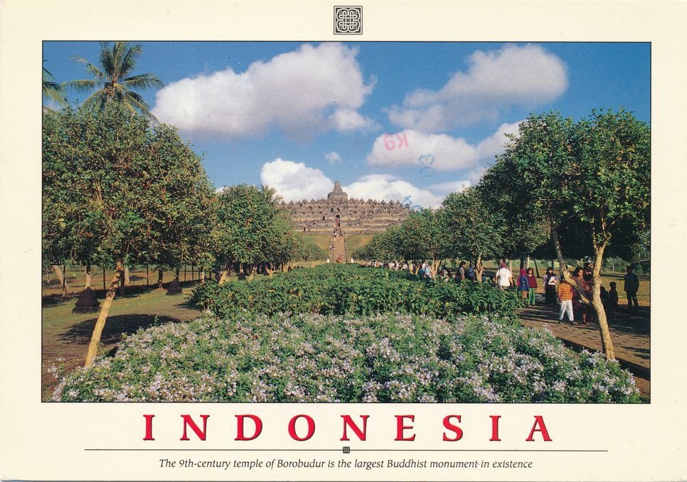 Borobudur, Indonesia - 9th Century Buddhist Temple of Borobudur - pm 1991