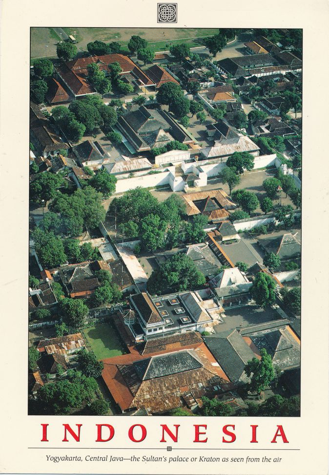 Yogyakarta, Central Java, Indonesia - Sultan's Palace from the Air - pm 1991