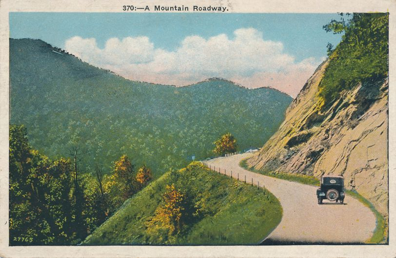 Mountain Roadway, North Carolina - White Border
