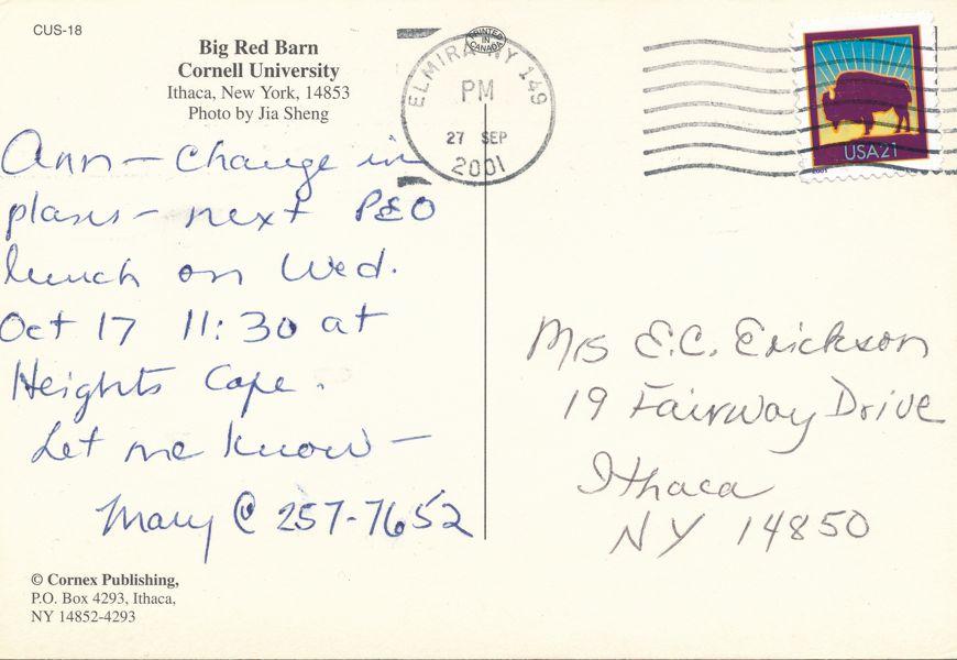 Ithaca, New York - Big Red Barn at Cornell University - pm 2001 at Elmira NY