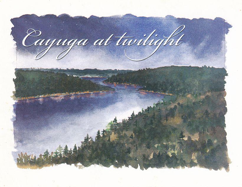 Ithaca, New York - Cayuga at Twilight