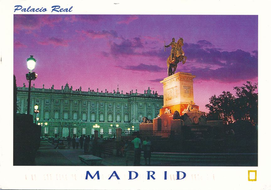 Madrid, Spain - Royal Palace in Evening Light