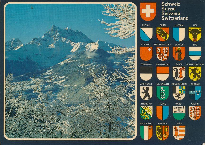 Switzerland - Winter Landscape of Dents-du-Midi - Chablais Alps - pm 1980