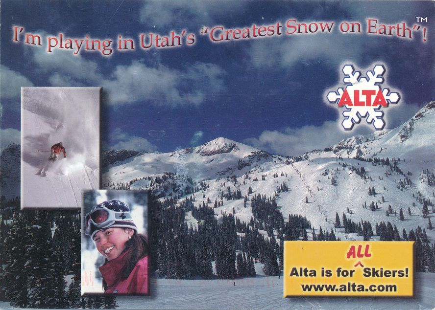 Alta, Utah - Greatest Snow on Earch - Skier Paradise - pm 2003 at Salt Lake City