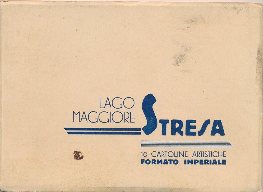 (10 cards) Lake Maggiore, Italy - Lago Maggiore 1937 Folder of 10 Postcards