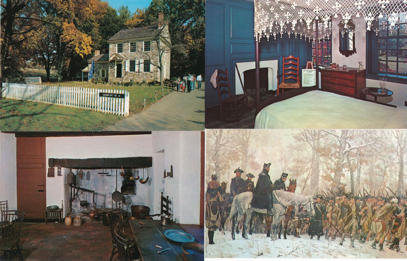 (4 cards) Valley Forge, Pennsylvania - Washington Headquarters