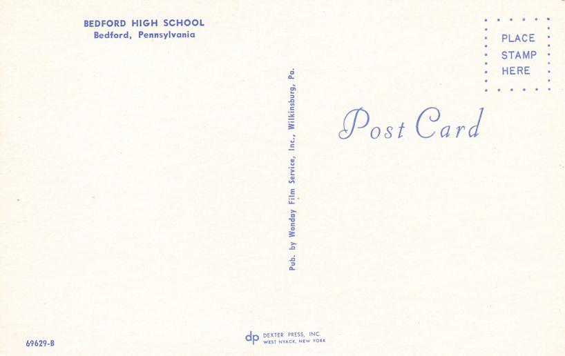 Bedford, Pennsylvania - Bedford High School