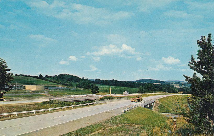 Pennsylvania Shortway I80 Highway near Brookville, Pennsylvania - pm 1964 at Brockport PA