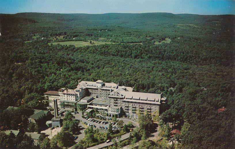 Buck Hill Falls, Pennsylvania - Aerial View of the Inn Resort