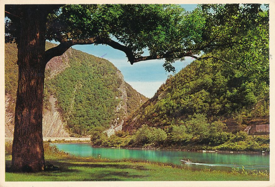 Delaware Water Gap, Pennsylvania - The Gap from New Jersey Side - pm 1983 at Lehigh Valley PA