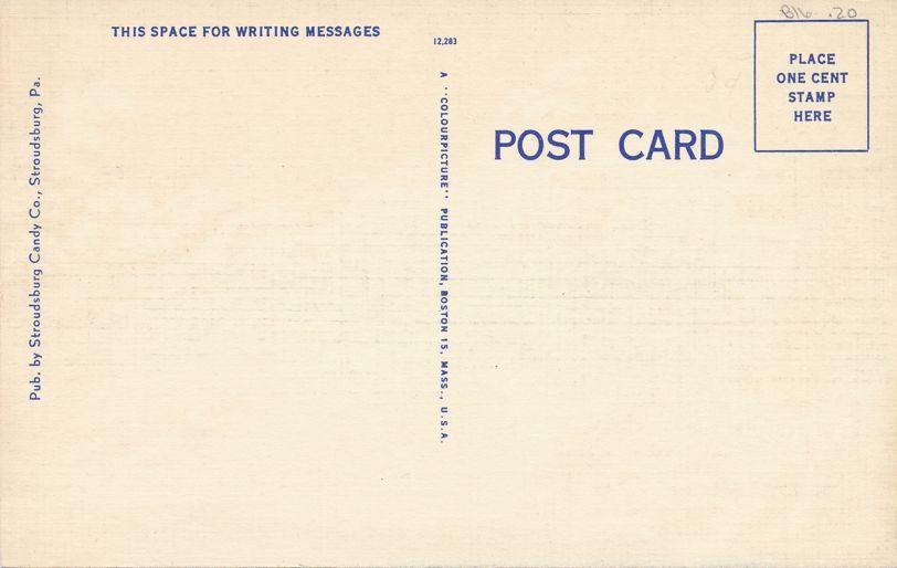 Paradise Falls, Pennsylvania in the Pocono Mountains - Linen Card
