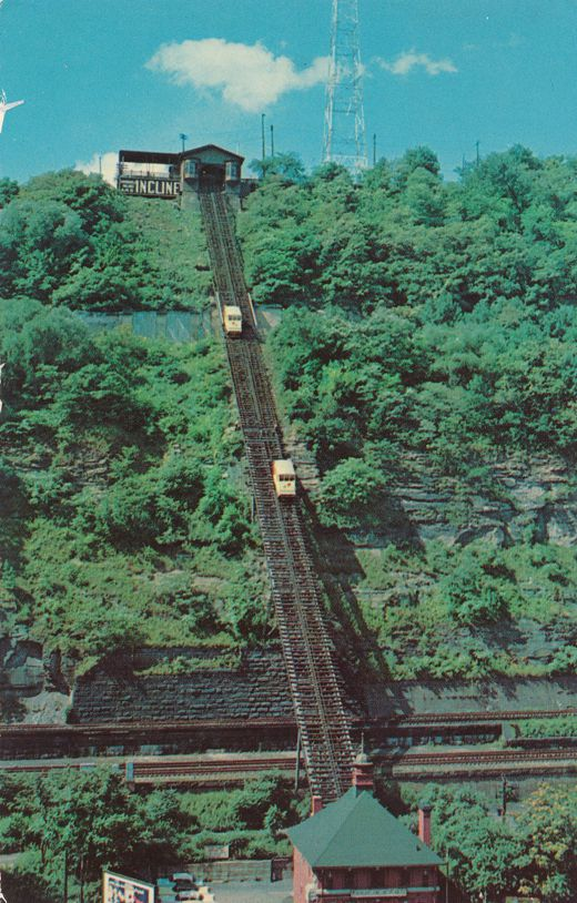 Pittsburgh, Pennsylvania - Mt Washington Incline Railway - pm 1973