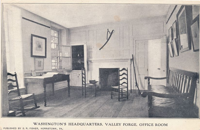 Valley Forge, Pennsylvania - Washington Headquarters Office Room - Undivided Back