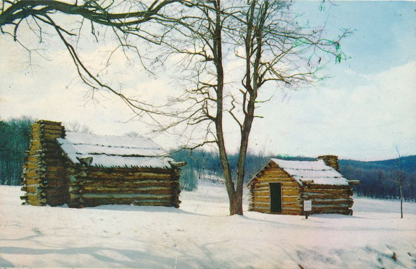 Valley Forge, Pennsylvania - Continental Army Huts - pm 1977 at Southeastern PA