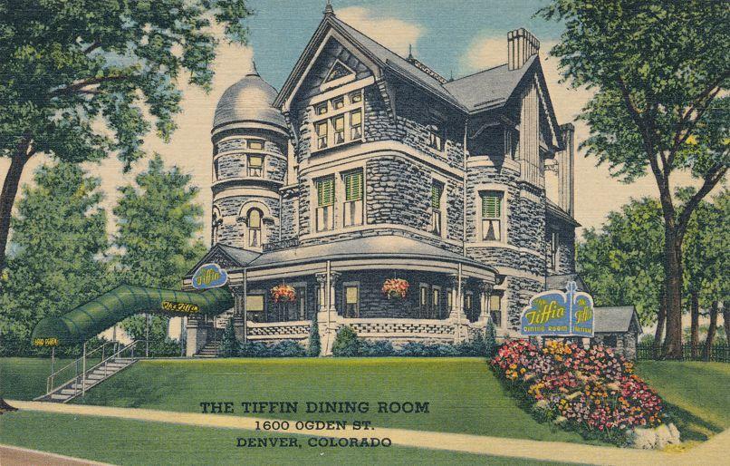 Denver, Colorado - Tiffin Dining Room - Restaurant on Ogden Street - Linen Card
