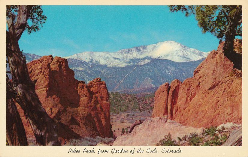 Garden Of The Gods, Colorado - View of Pikes Peak