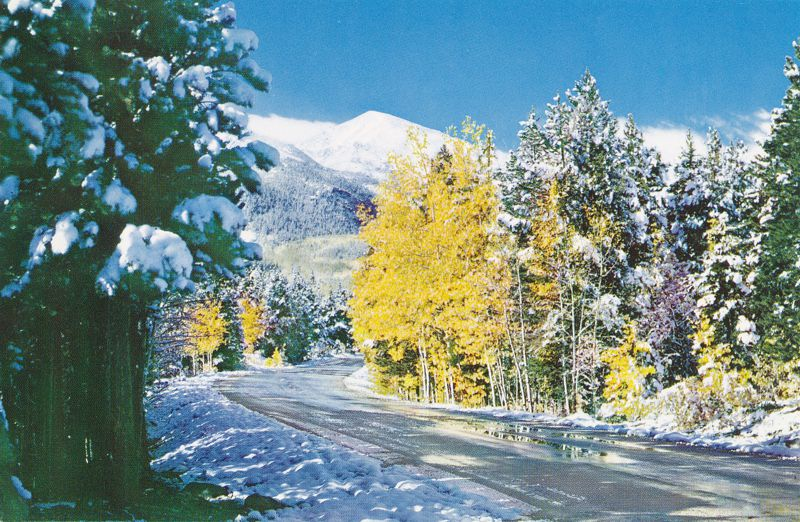 Rocky Mountain National Park, Colorado - First Snow on Bear Lake Road