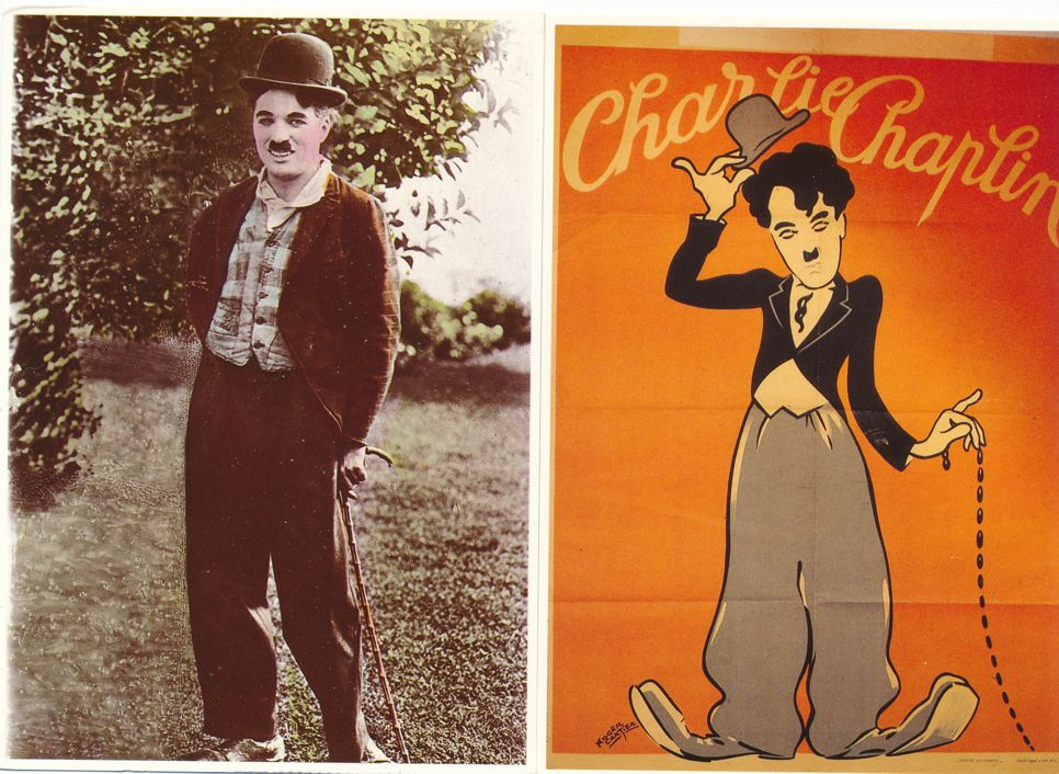 (12 cards) Charlie Chaplin Movie Posters on Postcards - Silent Movie Comic Star
