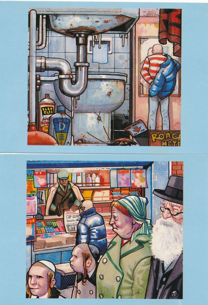 (6 cards) City Life Series by Spanish Comic Book Artist Pepe Moreno - Prints on Postcards