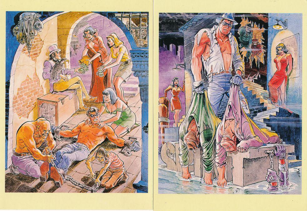(6 cards) American Cartoonist Artist Will Eisner Comic Illustrator Prints on Postcards