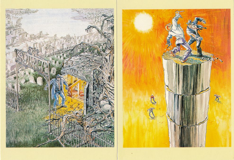 (6 cards) Comic Illustrator Prints on Postcards - American Cartoonist Artist Will Eisner