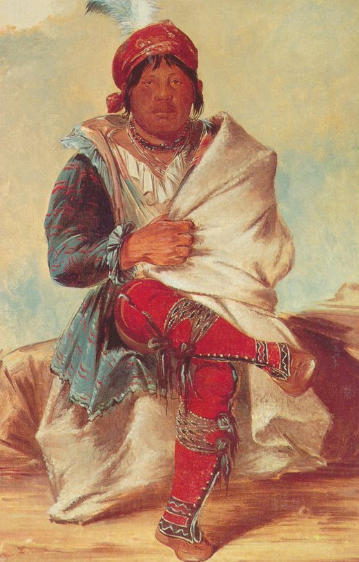 Seminole Indian War Chief Mick-E-No-Pah (Postcard of George Catlin Painting)