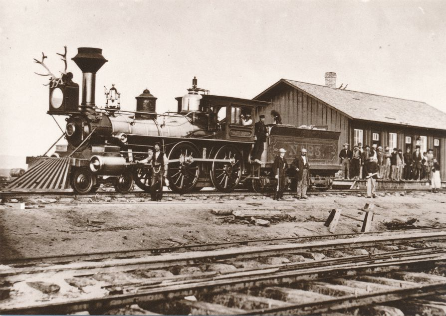 Railroad Locomotive #23 near Laramie, Wyoming - Western USA - Recent Print