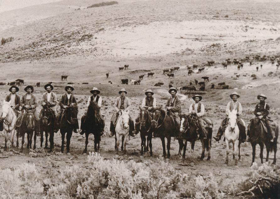 Yellow Creek Roundup - Rio Blanco County Colorado circa 1911 - Western USA - Recent Print