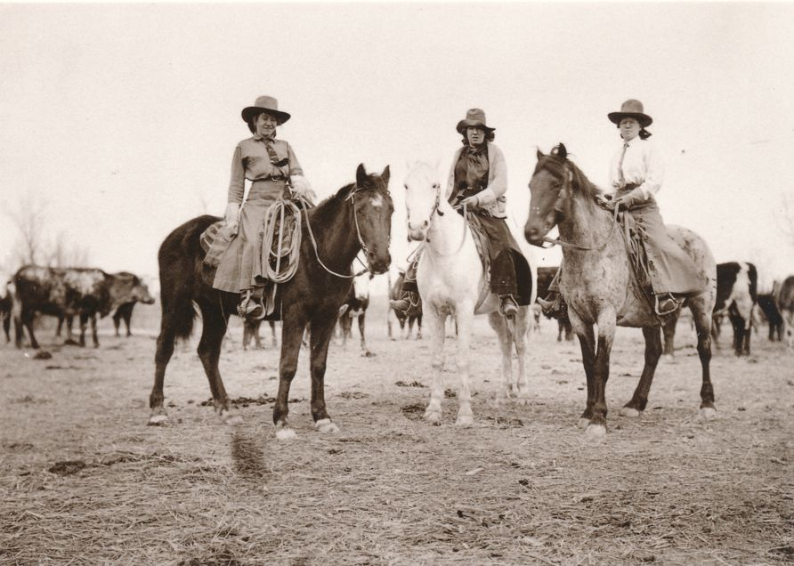 Buckley Sisters of Montana on Horses - Western USA Recent Print