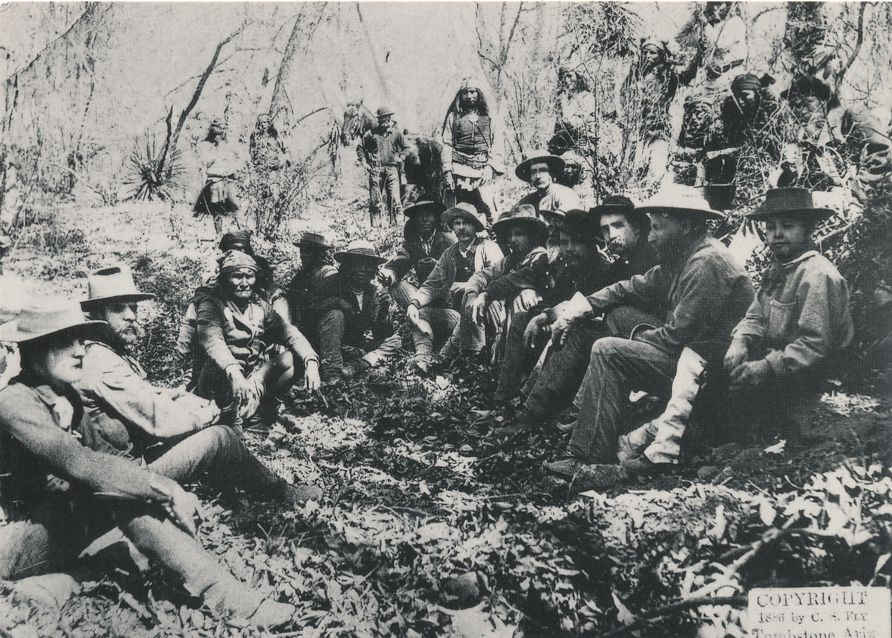 Peace Talks between General Crook and Apache Indian Geronimo - Western USA Recent Print