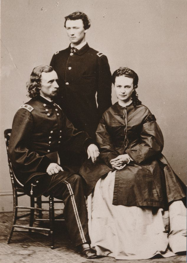 Custer with Brother and Wife Family Portrait - Western USA Recent Print